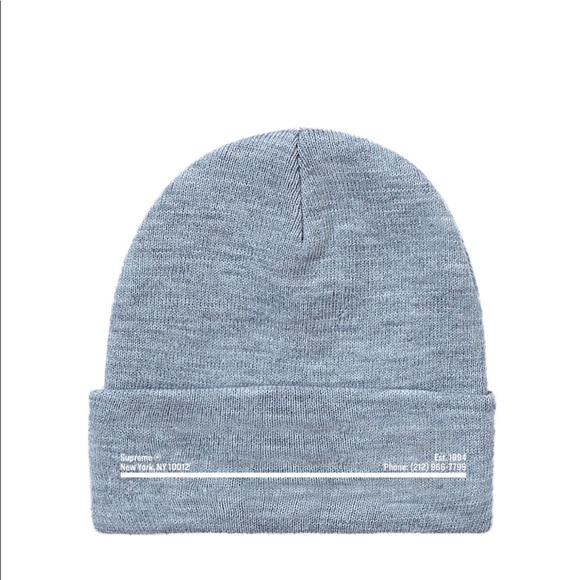 Supreme Accessories Supreme New Era Shop Beanie Grey New York City Poshmark